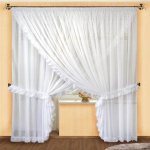 Комплект штор № 014 250*500 2 шт белый