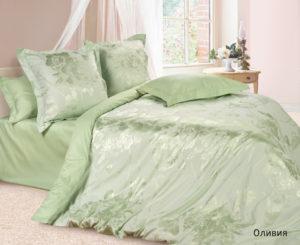 Комплект постельного белья сатин-жакккард Оливия
