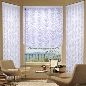 Комплект штор № 018 600*550 белый