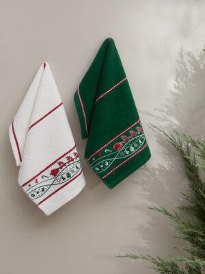 Полотенца махровые KARNA CHRISTMAS 30x50 см V2 2 шт