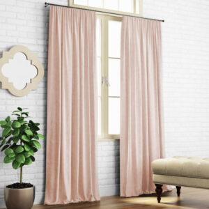 Комплект штор Ким 2х140х270 см Бледно-розовый