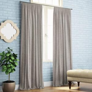 Комплект штор Ким 2х140х270 см Светло-серый