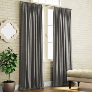 Комплект штор Ким 2х140х270 см Темно-серый