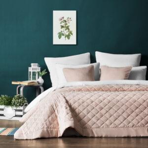 Покрывало с наволочками Ким Бледно-розовый 230х250 см