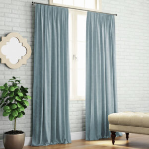 Комплект штор Ким 2х140х270 см Серо-голубой