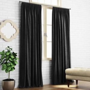 Комплект штор Ким 2х200х270 см Черный