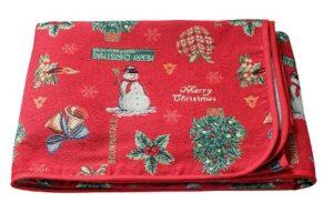 Скатерть  гобелен Melangio Merry Christmas 140*240 см без коробки (Италия)