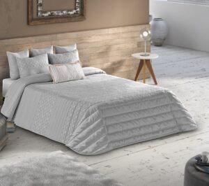 Покрывало Leiper Spring 1 Cinza + 2 подушки 80% хлопок (Португалия)