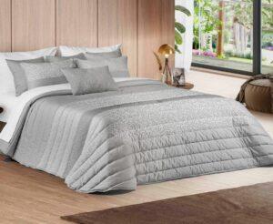 Покрывало Leiper Spring 5 Cinza + 2 подушки 80% хлопок (Португалия)